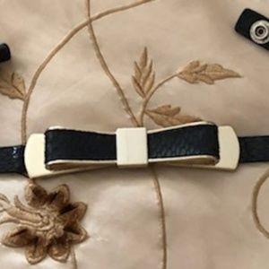 Croc- Embossed Skinny Bow Belt by WHBM
